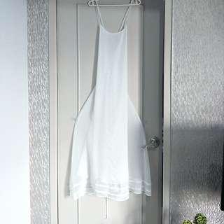 Tie-up back sheer dress