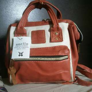Anello Leather 3way Bag Sml