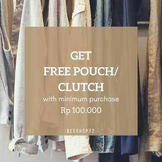 FREE POUCH OR CLUTCH