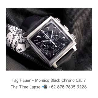 Tag Heuer - Monaco Black Chronograph Cal. 17