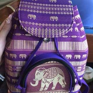曼谷水上市場大象背包