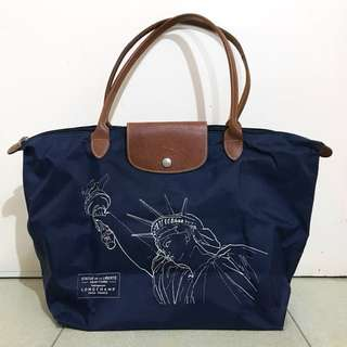 Longchamp New York Special Edition navy tote bag