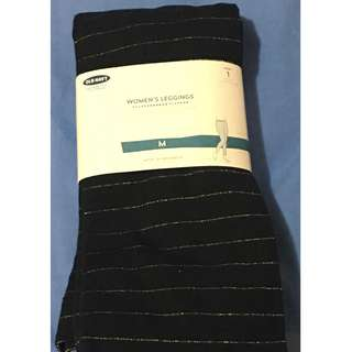 Unopened Old Navy Black and Gold Leggings