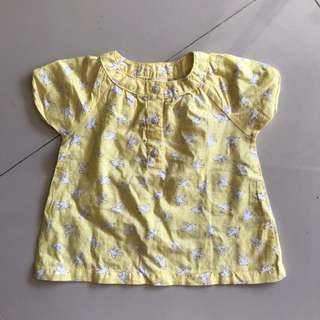 Preloved - Carter's Baby Yellow Birdie Top 6months