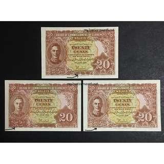Malaya 1941 20 cents variety