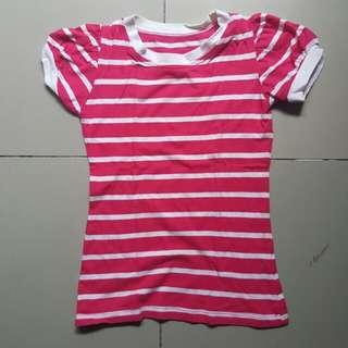 Stripe blouse pink