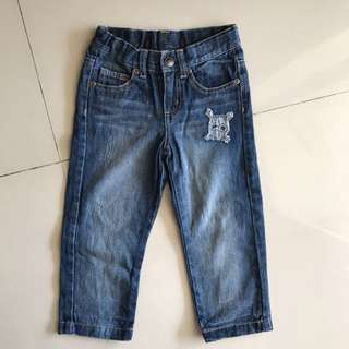 Preloved - Amy Coe Skull Jeans 24months (adjustable waist)