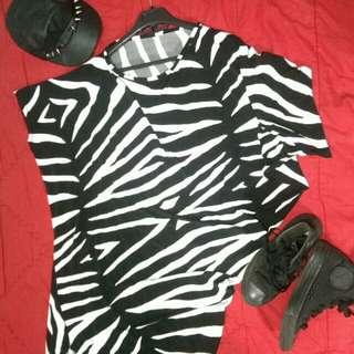 Dress zebra miring