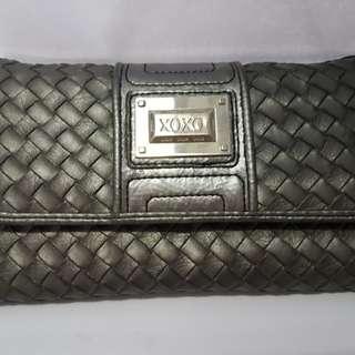 Stylish XOXO Weave Wallet (Gray)