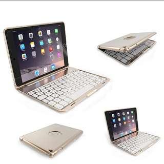 Aluminum backlit bluetooth keyboard folio backlight for ipad