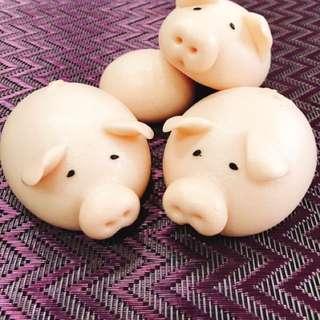 造型饅頭:3隻小豬