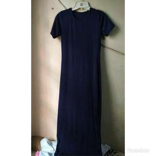 Dress slit maxy navy