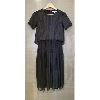 initial 女裝黑色連身裙