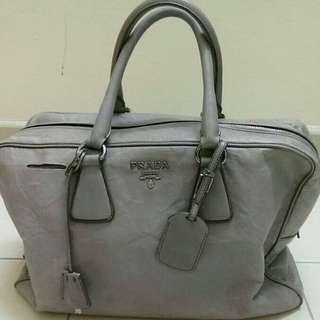 Authentic PRADA full leather Bauletto tote bag