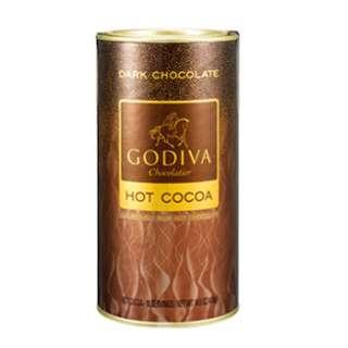GODIVA 罐裝黑巧克力可可粉