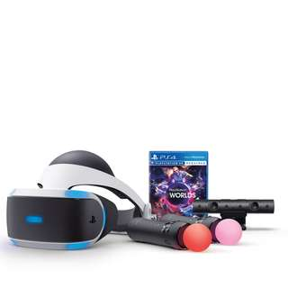 BRAND NEW VR + Camera + Move Controller X2 + Game Sony PlayStation VR With WARRANTY Virtual Reality With PlayStation Camera Play Station PS4 PS 4 Game Gaming Fat Slim Pro