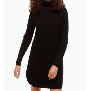 Aritzia Wilfred Free Bianca dress (sweater dress) (dark grey) (XXS)