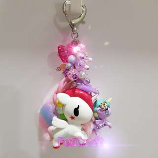 Tokidoki Neon Star Stellina and Lily Unicorno Set Fob Charm