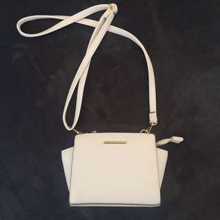 Small off white side bag