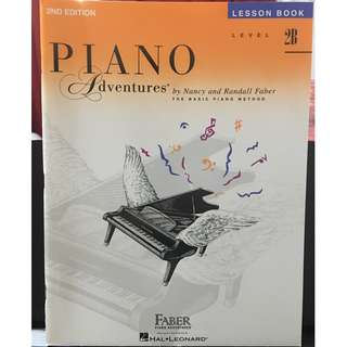Piano adventures level 2B lesson book (2nd edition)