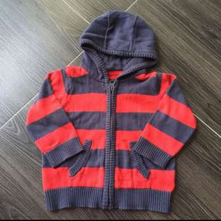 Mothercare Knitted Hooded Jacket Sweater