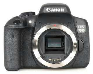 Canon EOS 750D Body Only Wifi Resmi Cash-Kredit Kamera