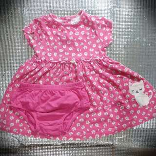 Carter's Pink Floral Dress Set