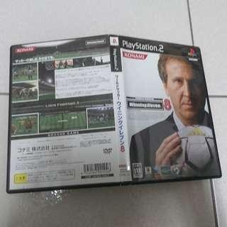 PS2 Winning Eleven 8 實況足球8 世界足球勝利十一人正版遊戲