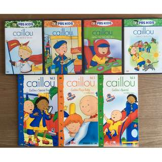 Caillou cartoons for kids / children VCDs and DVDs
