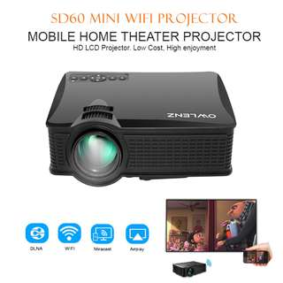 1500 Lumens LED projector SD60 With Wifi Portable LED Projector