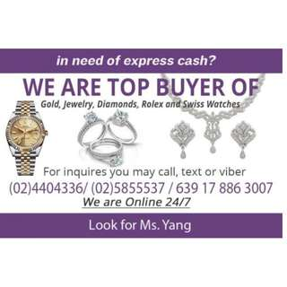 Highest Appraisal buyer of gold and diamond jewelry