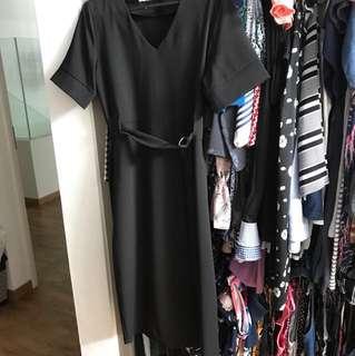 TEM black dress midi