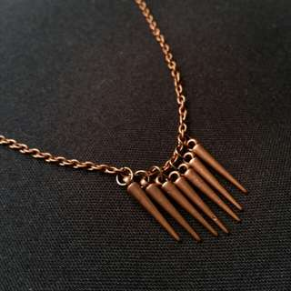 Bronze Spikes Necklace