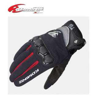 ★KOMINE GK-162 3D MESH RIDING GLOVES MOTORCYCLE GLOVE AIR MESH ★ RACING CYCLING TOUCH SCREEN SMART TIP ★E-SCOOTER GLOVES ★ BLACK RED ★ NEW