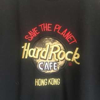 """Authentic vintage Hard Rock Cafe shirt """"save the planet"""""""