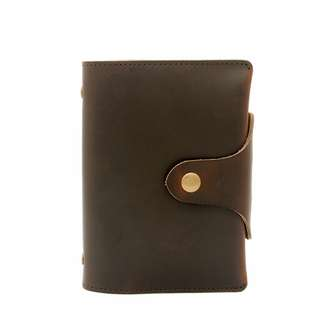 The Ninja Co. Notebook A7 Stationery Diary Organizer Calendar Planner Top Grain Genuine Leather Business Corporate Gifts Birthday Men Women NJ 8822 Work Card Holder Case Office Wallet Present New