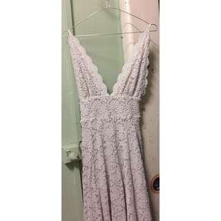Lace & Beige Boho Bridal / Formal / Social Event Dress