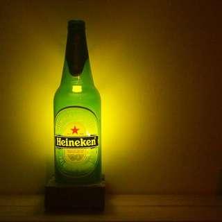 🚚 海尼根酒瓶 裝飾燈/夜燈 (附LED燈泡)