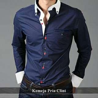 Kemeja Pria Simple | Fashion Pria Tebal | Clint