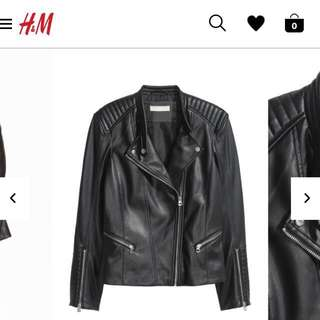 Biker Leather Jacket *PRICE DROPPED*