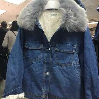 ❤️9051毛毛領牛仔外套
