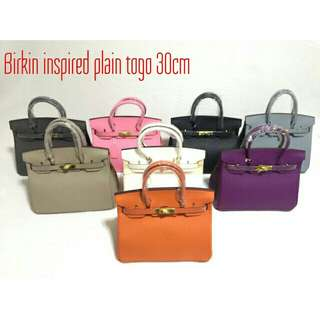 Birkin Plain Color Leather
