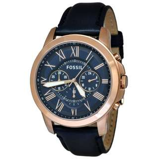 Fossil Grant Navy Leather FS4835