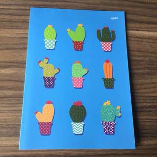 Buku tulis kaktus A4