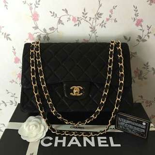 CHANEL JUMBO FLAP CANVASS BLACK COMPLETE