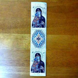 Mother Mary Fabric Bookmark