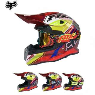 ★READY STOCK★FREE GOGGLES ★ FOX FULL FACE MOTORCYCLE HELMET ★OFF ROAD ★ RED ★ MOTOCROSS ★ e-SCOOTER ★ e-bike ★ NEW★DOWNHILL ★ NEW ARRIVALS