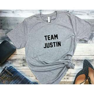 Team Justin timberlake Design T-Shirt Custom Tee