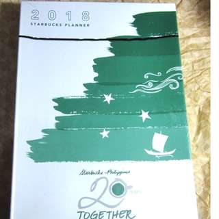 Starbucks Philippines Planner 2018 - Green / Brown ( LARGE)