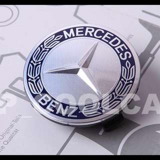 Mercedes Benz wheel cap blue laurel